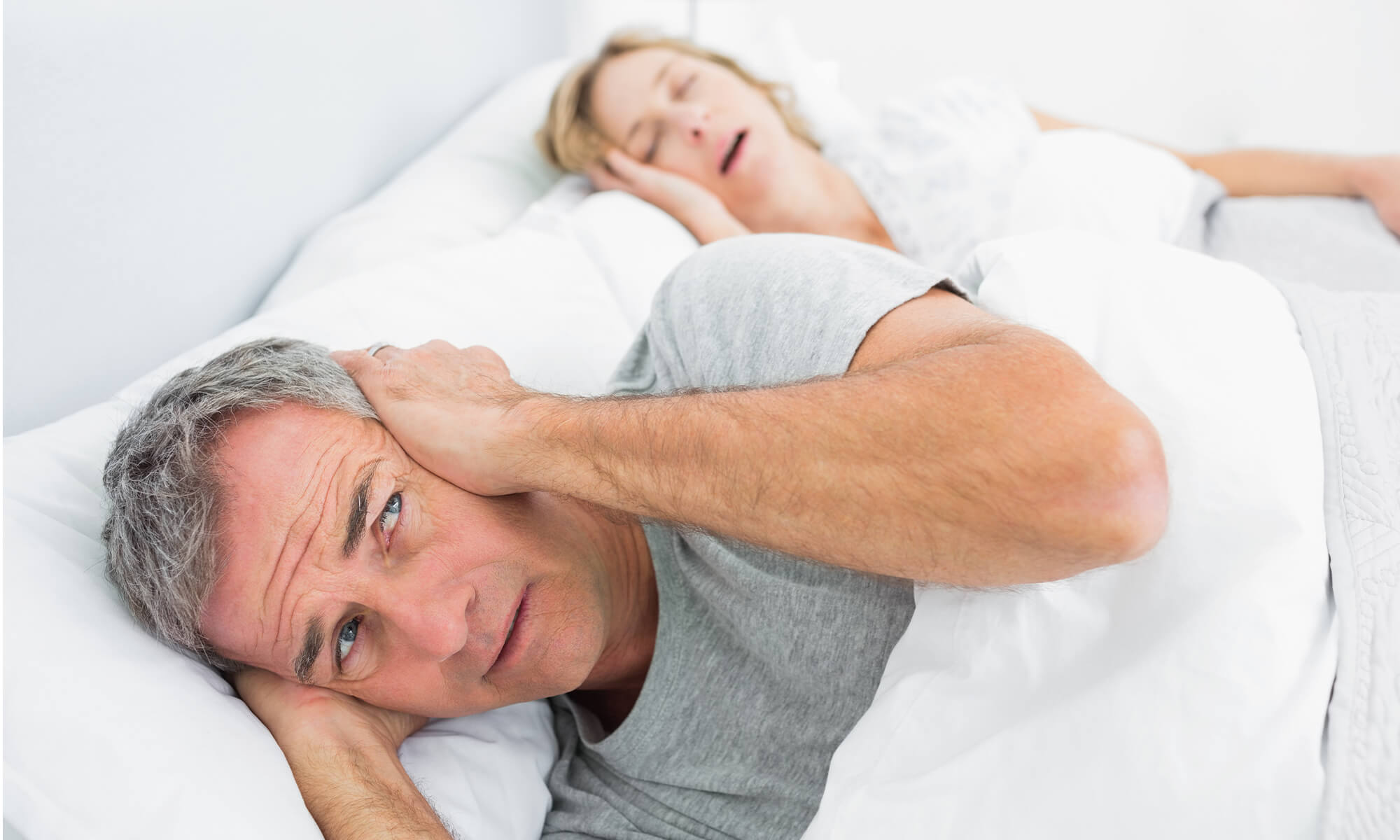 Woman with signs and symptoms of sleep apnea